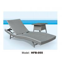 Buy cheap Beach sun lounger without wheels, little table at side folding sun lounger from wholesalers