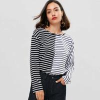 Buy cheap Antumn Women Contrasting Stripes Long Sleeve T-shirt from wholesalers
