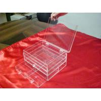 Buy cheap 3 Mm Clear Acrylic Storage Boxes With Three Drawers For Jewelry product