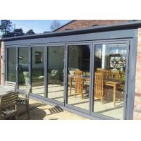 Professional Grey Aluminium Bifold Doors , Soundproof Exterior Bi Fold Doors