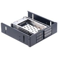 Buy cheap Unestech 2.5in aluminum shell 3-bay SATA ROM-Space hard drive rack to 5.25 PC bay hard disk caddy tray 2.5hdd mobile rac from wholesalers