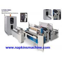 Buy cheap Single Roll Toilet Paper Roll Making Machine Production Line 380V 50Hz , 3 PH from wholesalers