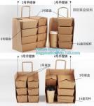 Buy cheap Custom Logo Printed Grocery Packaging Craft Brown Kraft Paper Shopping Bag with Handle,Kraft Paper Shopping Bag , Paper from wholesalers