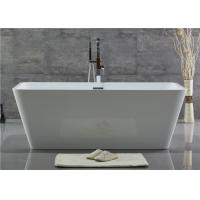 Customized Acrylic Free Standing Bathtub With Center Position Drainer