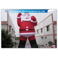 Buy cheap Outdoor Large Blow Up Inflatable Santa Claus For Christmas Decorations from wholesalers