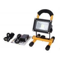 Buy cheap 10W Waterproof Rechargeable LED Flood Lights Black Aluminum 4 Hours Portable from wholesalers