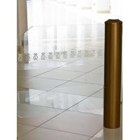 Buy cheap Gold coating cylinder swing gate for Luxury shops/offices from wholesalers