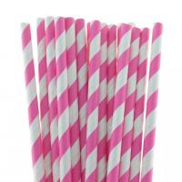 Buy cheap multi-type Decorative pattern colorful paper straws with 26mm length from wholesalers
