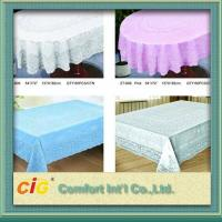 Buy cheap Elegant Patterned Lace Round PVC Transparent Film Tablecloth For Picnic / Restaurant product