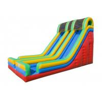 Buy cheap 0.55mm PVC  Entertainment Large Inflatable Slide For Children OEM from wholesalers