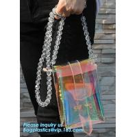 Buy cheap women's wallets small shoulder messenger bag with metal chain strip, Zipper Wallet Multicolor Purse, waterproof mobile c from wholesalers