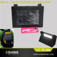 Buy cheap Hotsale ipad solar charger | the newest solar charger bag with lighting function from wholesalers