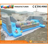 Buy cheap PVC Big Baller Wipeout Inflatable Interactive Game Obstacle Course Challenge from wholesalers