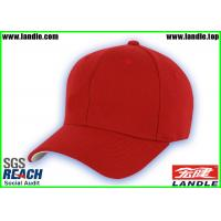 Buy cheap Cotton Sports Fan Merchandise , Soft Red Custom Baseball Hats from wholesalers