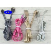 China High Speed Flat Colorful Smartphone USB Cable 2.0 , Braided Micro USB Cord on sale