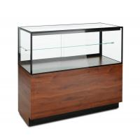 Buy cheap Mahogany Laminate Lucite Locking Jewelry Display Case With Storage Cabinet from wholesalers