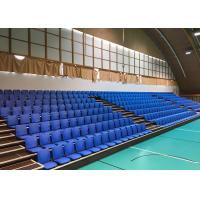 Economical Retractable Bleacher Seating 460MM - 500MM Width With A Folding Back