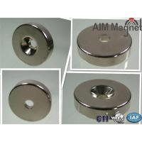 Buy cheap High Quality N50 N52 Disc Countersunk Hole magnets ndfeb from wholesalers