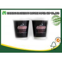 Double Wall Takeaway Coffee Cups , Food Grade Kraft Paper Coffee Cups For Milk / Tea