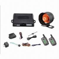 Buy cheap 2-way FM Car Alarm with 2 LCD Display Remote Controls from wholesalers