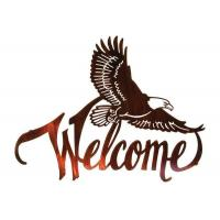 Buy cheap American Bald Eagle Welcome Large Metal Wall Sculptures For Home Decorations from wholesalers