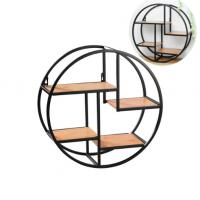 Buy cheap Creative Wall Iron Shelf Round Floating Shelf Wall Storage Holder and Rack Shelf for Pantry Living Room Bedroom Kitchen from wholesalers