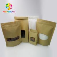 Buy cheap Customized Tin Tie Coffee Resealable Kraft Paper Bags / 3 Side Seal Pouch from wholesalers