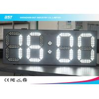 Buy cheap White And White Led Clock Digital Clocks With Large Display , Long Lifespan from wholesalers