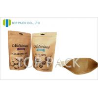 Buy cheap Moisture Proof zipper stand up food pouch , Nuts kraft paper packaging from wholesalers