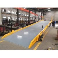 Buy cheap 10t mobile hydraulic container loading ramp with 11x2m Overall Dimensions from wholesalers