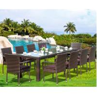 Buy cheap Modern Poly Rattan Aluminium Outdoor Garden wicker chair patio Backyard table from wholesalers
