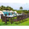 Buy cheap Modern Poly Rattan Aluminium Outdoor Garden wicker chair patio Backyard table from wholesalers