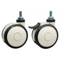 Buy cheap heavy duty twin-wheel caster, Rubber wheel with aluminum senter, Four ball bearing from wholesalers