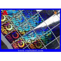 Buy cheap Small Hologram Sticker For Cardboard Storage Boxes With Holographic Serial Number Anti Fake from wholesalers