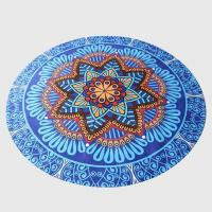 Buy cheap Customized pattern Mandala printed round yoga mat natural rubber mat meditation mat product