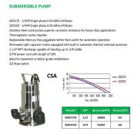 Buy cheap SUBMERSIBLE PUMP SSD370 SSD550 product