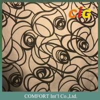 Buy cheap Sofa / Cushion / Furniture Decoration PU Synthetic Leather With Flocking Designs from wholesalers