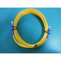 SM Duplex Fiber Optic Patch SC / UPC Connector PVC Cable