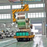 Buy cheap Steel factory electric large coil transfer cart mounted on the rail from wholesalers
