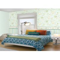 Buy cheap Non Woven Cute Kids Bedroom Wallpaper Mould Proof Green Leaf Pattern product
