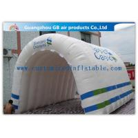 Buy cheap Customizable White Inflatable Portable Spray Booth Tent Quadruple Sewing With Printing from wholesalers