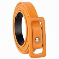 Buy cheap Fashion Dressy Colorful Skinny Soft PU Leather Belt, Ideal for Women product
