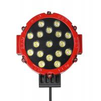 Buy cheap New Round led work lamp 12V 24V 3800lm 51W Red 7inch led work light for Truck, offroad vehicle 4x4 product