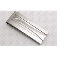 Buy cheap Stylish Silver Money Clips For Men , Silver Engraved Gifts Brushed and Polished Finish from wholesalers