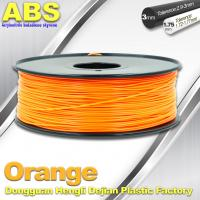 Buy cheap Orange  3D Printing Materials 1.75mm ABS 3D Printer Filament In Roll product
