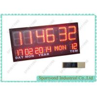 Buy cheap Temperature and Date with Led Digital Clock Display , Ultra Bright red LED from wholesalers