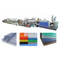 Buy cheap Polycarbonate Hollow Plastic Sheet Production Line For PC Hollow Cross Section Sheet from wholesalers