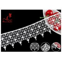 Buy cheap French Venice Guipure Polyester Lace Trims With Schiffli Water Soluble Via SGS product