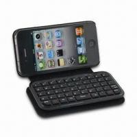 Buy cheap Bluetooth Keyboard with Leather Case for iPhone 5/4, Table PCs, MIDs, Measures 120 x 75 x 28mm from wholesalers