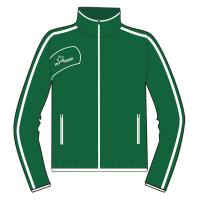 Buy cheap Breathable Eyelet Fabric Cool Sports Womens Tracksuits With Green / White from wholesalers